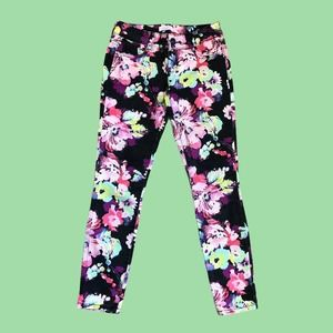 Candie's Stretchy Floral Ankle Pants 1 / XS